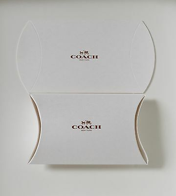 """Set of 10 Coach Gift Boxes 8"""" X 5.25"""" X 2"""" NEW"""