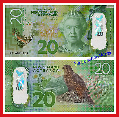 NUEVA ZELANDA NEW ZEALAND 20 Dollars dolares 2016 POLYMER Pick NEW  SC /  UNC