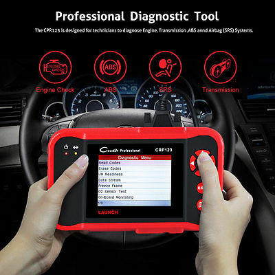 LAUNCH X431 CRP123 Auto OBD2 Code Reader Scanner Garage Diagnostic Tool UK Stock