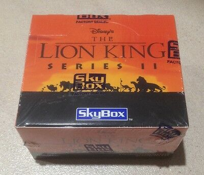 """1994 Skybox """"Disney's The Lion King - Series II (2)"""" - Factory Sealed Box"""