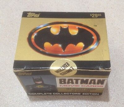 """1989 Topps """"Batman Collectors' Edition - Series 1"""" - Factory Sealed Box"""