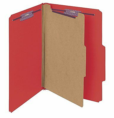 "Smead Pressboard Classification File Folder with SafeSHIELD Fasteners, 1 2"" #3OJ"