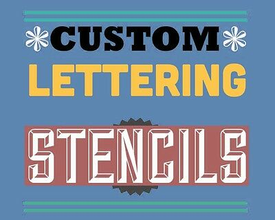 custom letter / word stencil A4 - personalised £4.99 One Price
