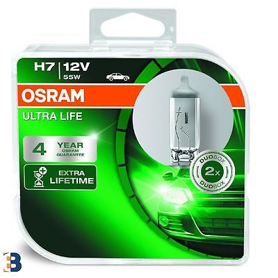 2x OSRAM H7 Ultra Life 12V 55W PX26d 64210ULT-HCB Headlight Bulbs Twin Pack