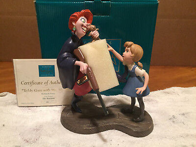 """WDCC The Rescuers - Medusa & Penny """"Teddy Goes with Me, My Dear"""" New + Box/COA"""