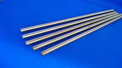"Woodturning Pen Kit Spares - 10"" Long 7mm Brass Tubes x 5"