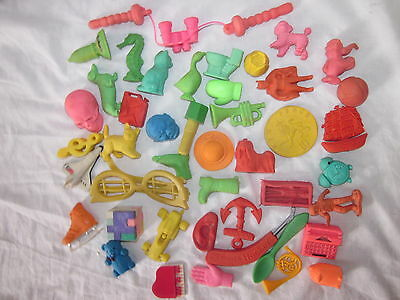Rare Vintage collection joblot 42 novelty eraser gomme figures animals etc