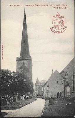 Ledbury, Herefordshire - Church with Detached tower - Tilleys postcard c.1910