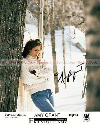 Amy Grant 8x10 Autographed Photo Reprint