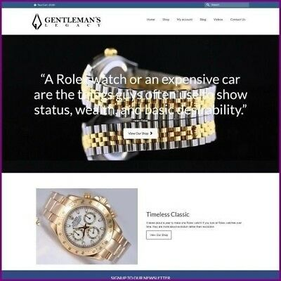 ROLEX WATCH Website Earn £4,340.40 A SALE|FREE Domain|FREE Hosting|FREE Traffic