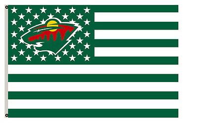 Minnesota Wild flag with strpe and stars Flag A01 3x5ft