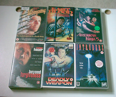 Vhs Bundle 6 Cult Big Box Ex Rental -Pre Cert Interest
