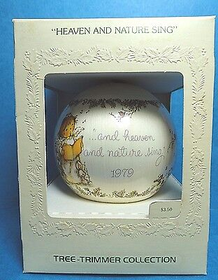 "Hallmark ""Heaven and Nature Sing""  Ball Ornament 1979"