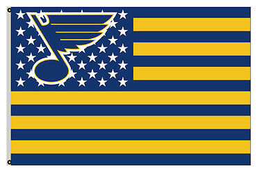 St. Louis Blues Flag with strpe and stars Flag A02 3x5ft