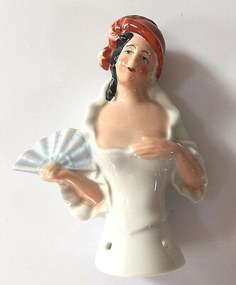 Vintage Porcelain Pin Cushion Half Doll #4  Free Shipping