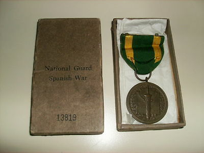 Spanish American War Medal War With Spain Numbered