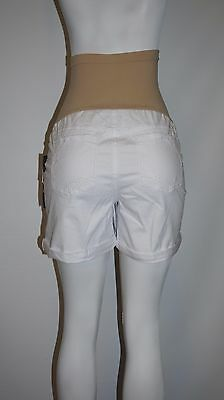 Oh Baby MOTHERHOOD Distressed WHITE DENIM Maternity SHORTS XL (Fit size 16-18)