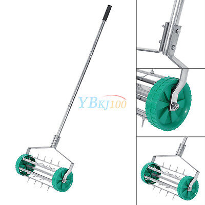 High Quality Stainless Steel Rolling Grass Lawn Aerator Roller with Alu Handle