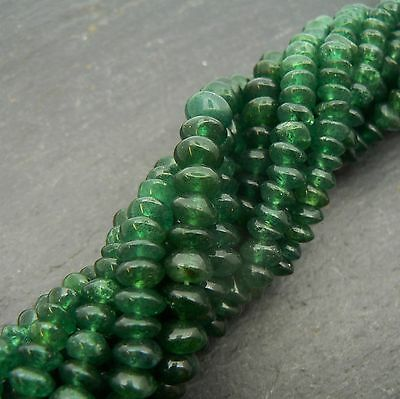 "Green Aventurine Button Beads 15"" Strand Rondelle Semi Precious Gemstone"
