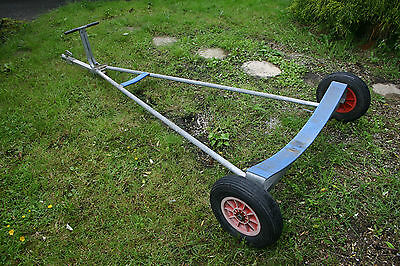 Sailing Dinghy Launching Trolley + hitch. Boat / tender launch, not road trailer