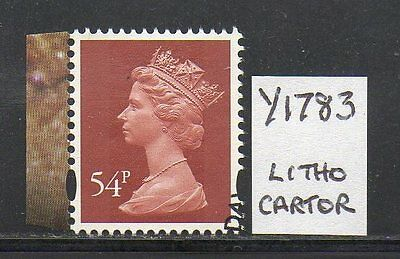 SG Y1783 54p Machin - Litho Cartor - Used (not security)