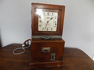 Vintage~Antique~Blink Time Recorder Clock~Clocking In Machine