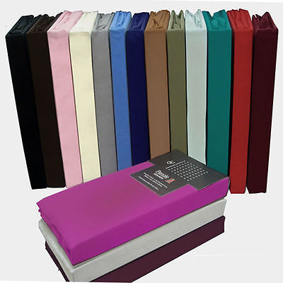Plain Dyed Fitted Valance Sheet, Bedding,  Bed Sheet Single Double + King Sizes