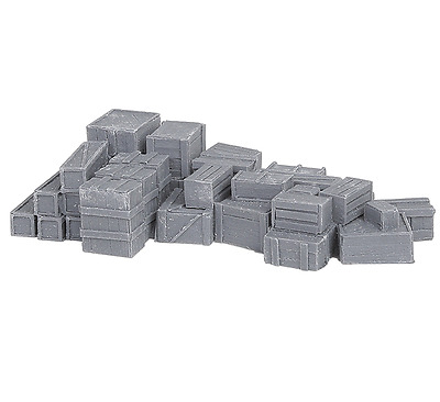 Bar Mills O Scale Unpainted Large Crate Assortment Resin Casting | Bn | 4019