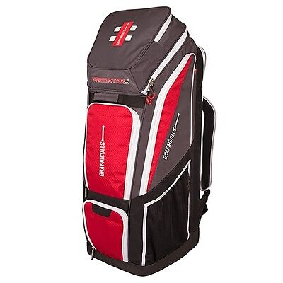 Gray Nicolls Predator 3 Pro Duffle Cricket Bag - Grey/Red