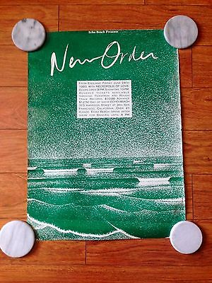 New Order Echo Beach Early Poster Factory Records Manchester Ny Rare Seascape