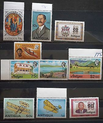 ANTIGUA lot of 10 MNH  stamps incl higher value   MINT    Lot #2      FV $7.50 +