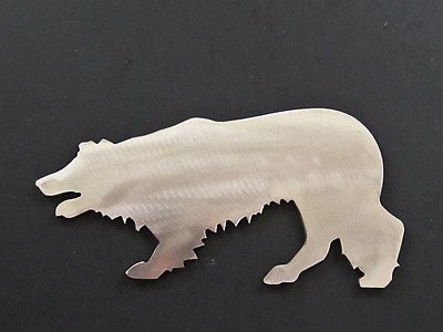 """Border Collie Dog Metal Steel Art 7"""" USA Crafted Silhouette Not Painted"""