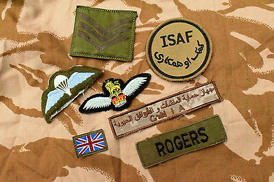 Joblot of British Army Badges / ISAF TRF / Para Wings / Union Flash