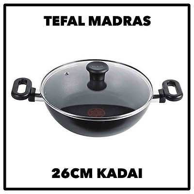 Tefal Madras 26cm Kadai Pot Pan Frying Grill Curry Indian Cookware Cooking