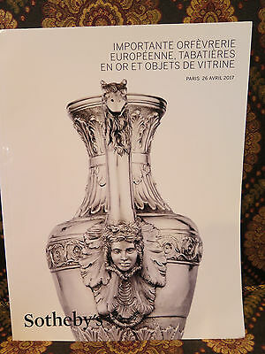 SILVER Orfevrerie Inc Gouji Odiot Important Europeenne Sotheby's Paris Catalog