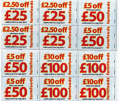 FARMFOODS DISCOUNT VOUCHERS NEWLY AVAILABLE GOOD VALIDITY  31st JULY 2017