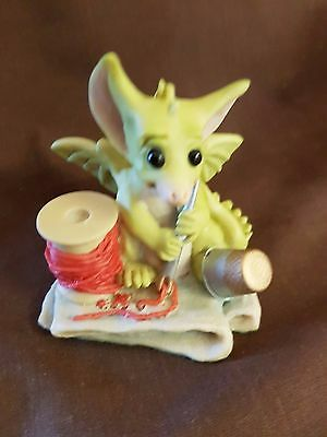Whimsical World Of Pocket Dragons Thimble Foot With Base Label 1991 Free Postage