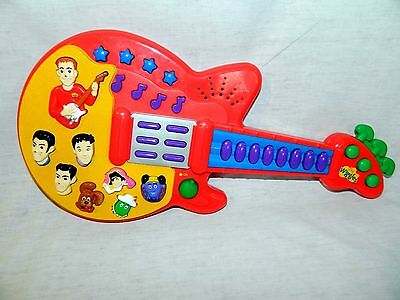 2003 The Wiggles Red Musical Guitar Spin Master Sing & Dance Songs Toy