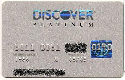 DISCOVER PLATINUM CARD no value, EXPIRED IN 2005
