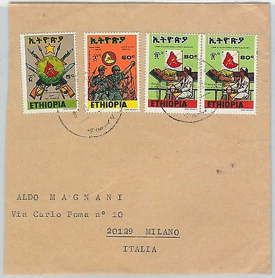 65101 - ETHIOPIA - POSTAL HISTORY -   COVER to ITALY - Soldiers RED CROSS