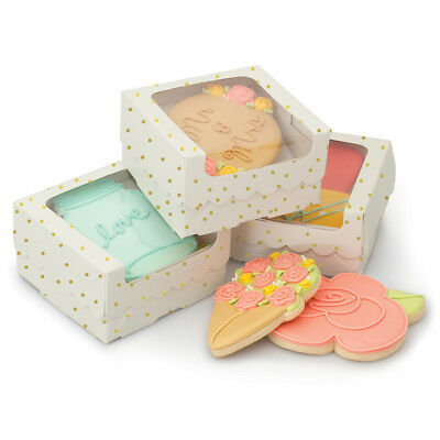 Sweet Sugarbelle Single Cookie Box-White W/Gold Dots