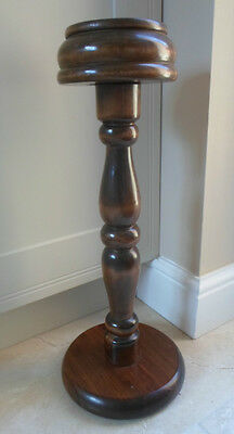 Vintage French large oversized floorstanding wooden candlestick, turned column