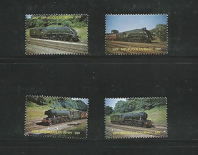Benin 2009 Railways set of 4 stamps unmounted mint