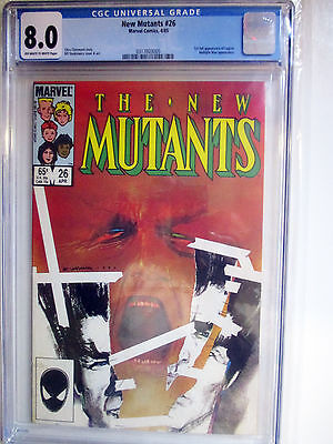 NEW MUTANTS 26 1st app Legion CGC 8.0 MARVEL TV SHOW 1985 Marvel Key - Claremont