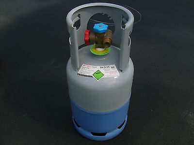 Empty 12kg R134a Refrigerant gas bottle in very good condition.