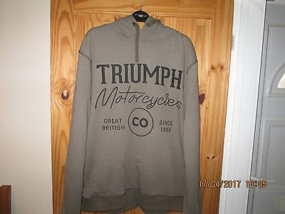 Used Genuine Triumph Mens Hoody Green With Black Detail Size Xl L@@k
