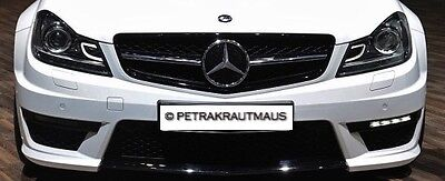 Mercedes C Class W204 C63 Look Grille Black and Chrome