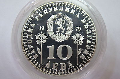 "10 AEBA Bulgarien 1979 PP ""Year of the Child"" 925 Silber selten"