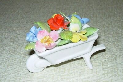 Royal Adderley Floral Collection Bone China Wheelbarrow with Flowers