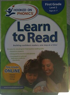 New Hooked on Phonics Learn to Read, First Grade Level 2 Sealed Ages 6-7